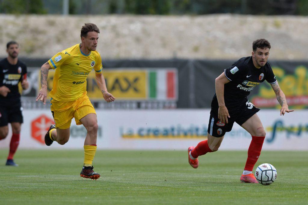 Caligara durante il secondo turno di Serie B