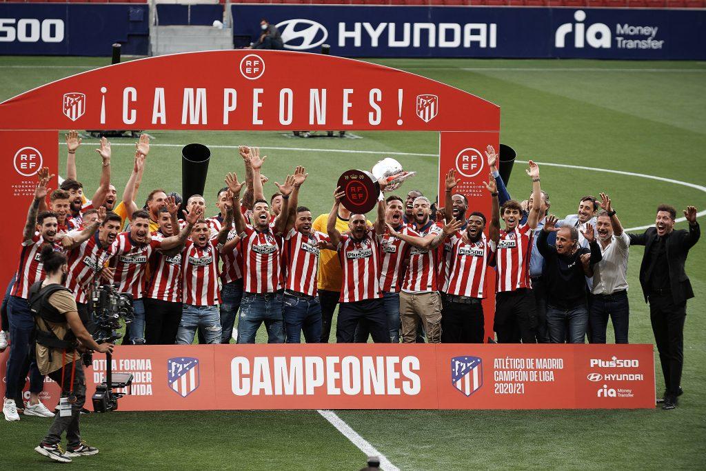La vittoria della Liga festeggiata dall'Atletico