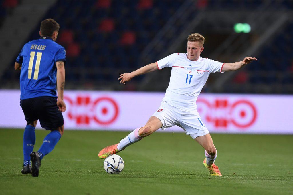 David Zima con la maglia della Repubblica Ceca contro l'italia
