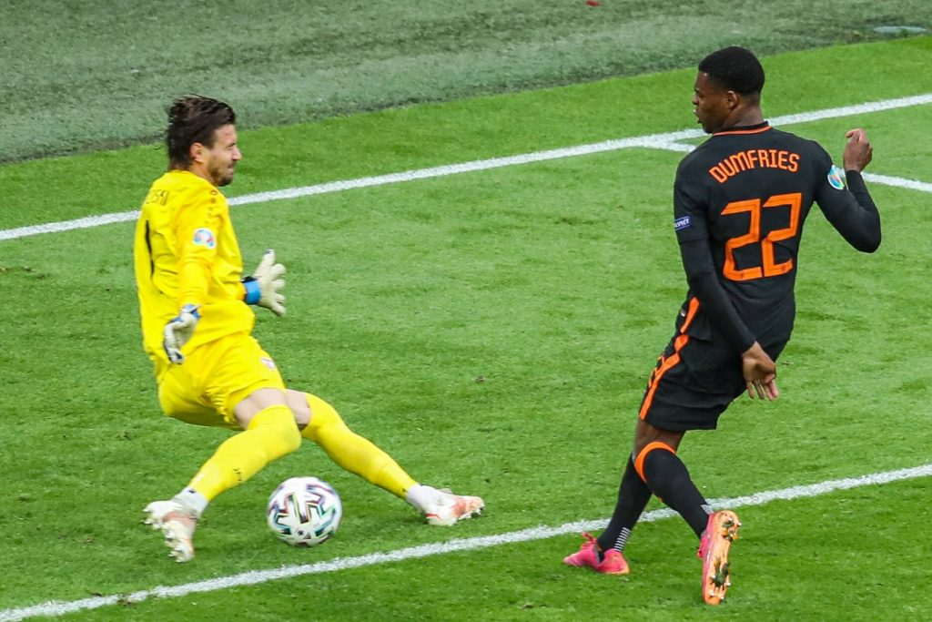 Dumfries in zona gol ad Euro202 contro la Macedonia del Nord