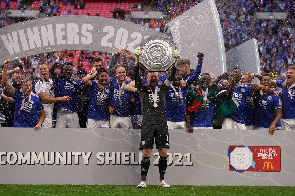 Il Leicester festeggia il Community Shield