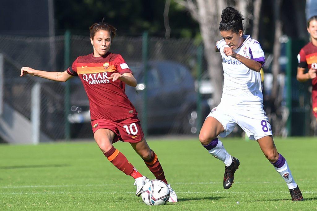 Roma e Fiorentina durante la scorsa Serie A femminile