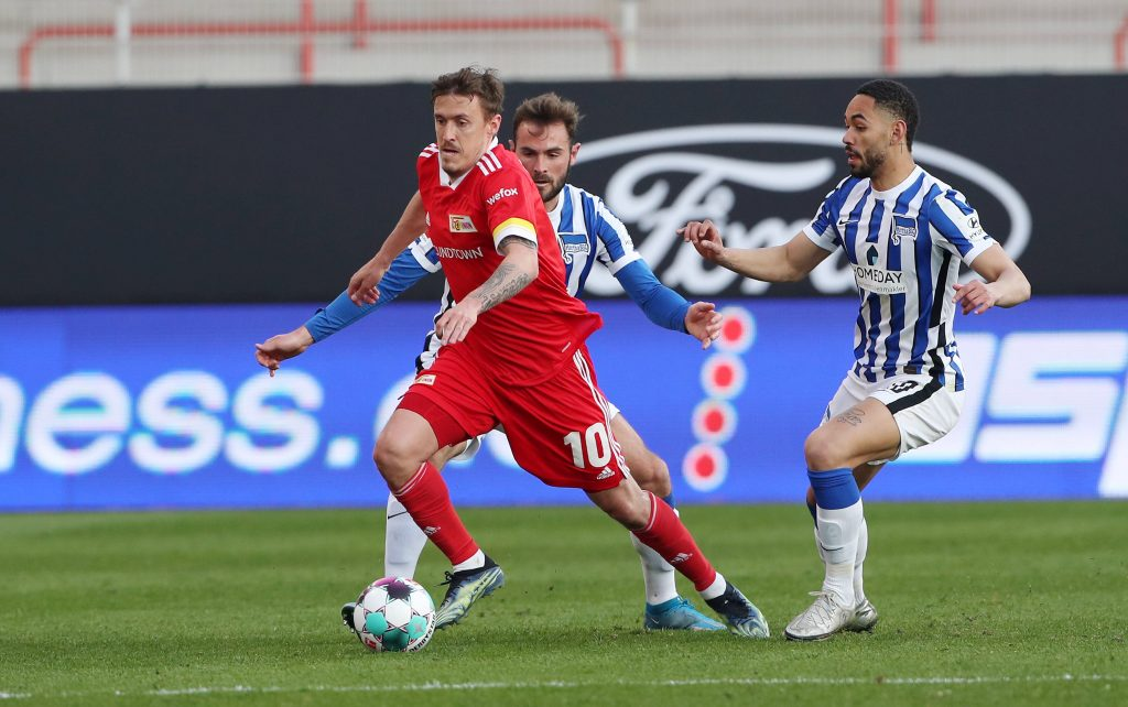Un match della vecchia Bundesliga tra Union ed Hertha