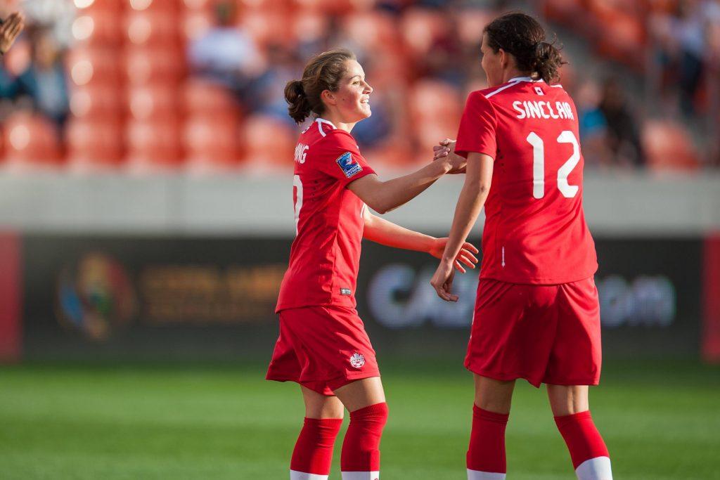 Fleming e Christine insieme durante una delle prime apparizioni in nazionale della giovane canadese