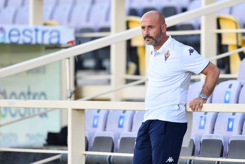 Italiano durante l'amichevole tra Fiorentina ed Espanyol