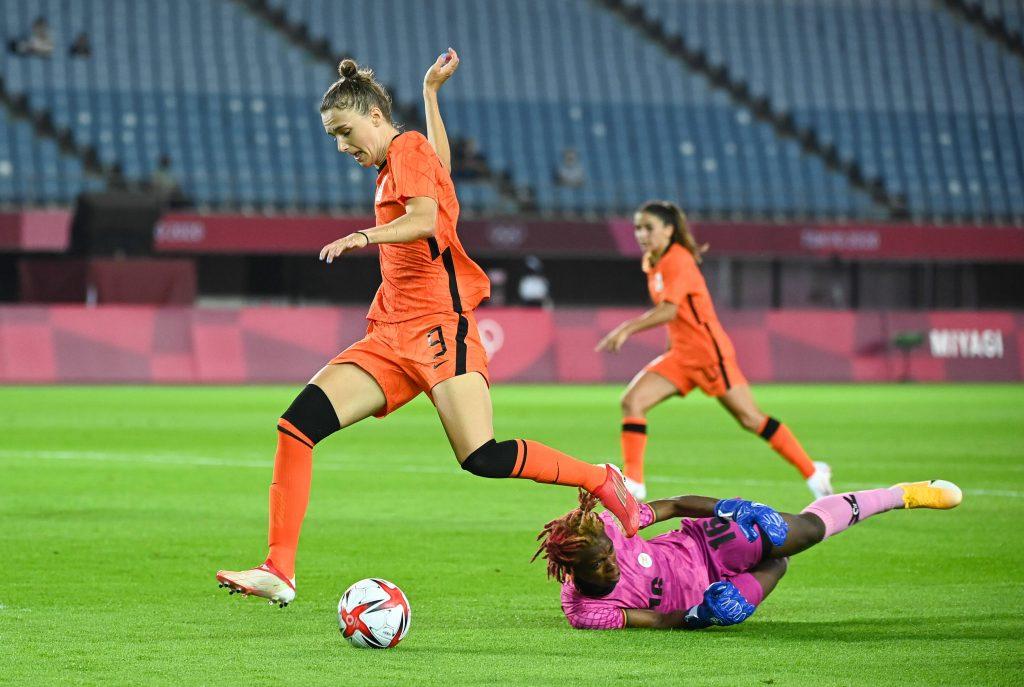 Vivianne Mediema in aziona contro lo Zambia alle Olimpiadi