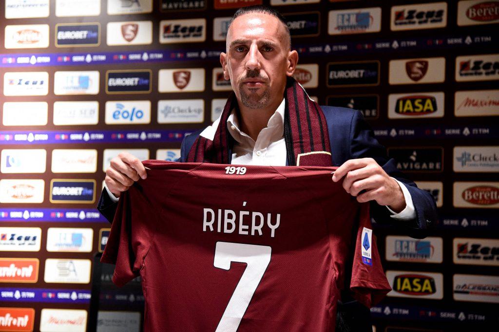 Franck Ribery il giorno della presentazione