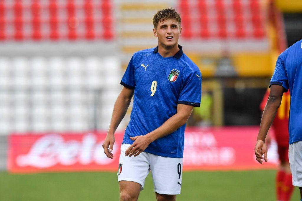 Colombo durante il match tra Italia Under 21 e Montenegro