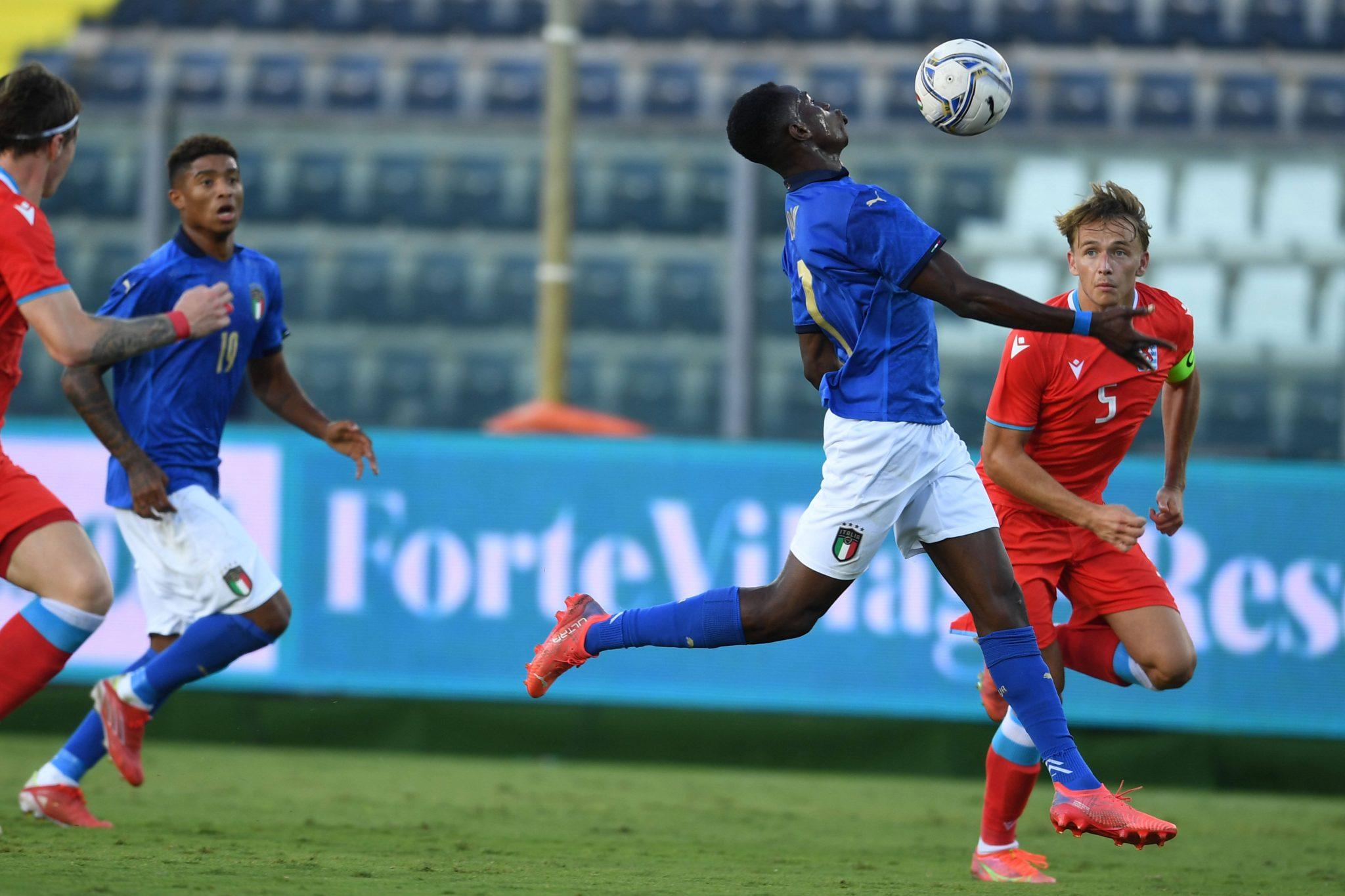 L'esordio di Kelvin Yeboah in Italia-Lussemburgo