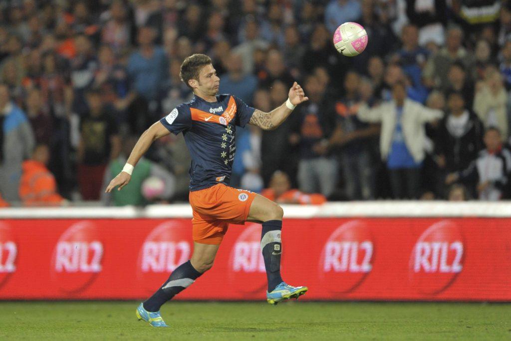 Olivier Giroud in Montpellier-Lille