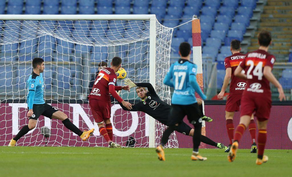 Pellegrini segna contro lo Spezia