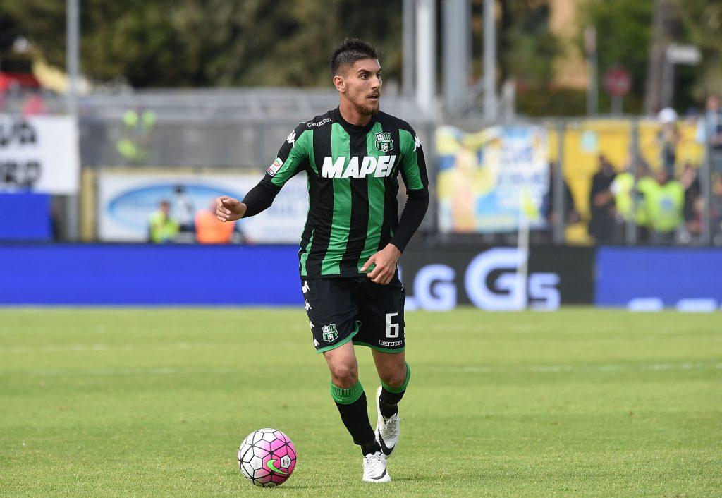 Lorenzo Pellegrini in campo in Frosinone-Sassuolo